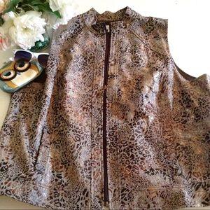 CJ Banks Leopard Vest 2X